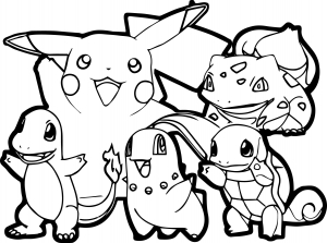 Coloriage pokemon traits epais