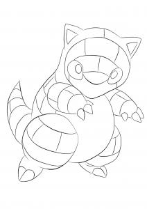 <b>Sabelette</b> (No.27) : Pokémon de génération I