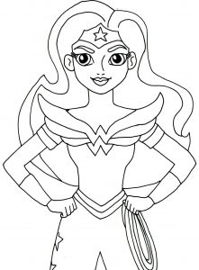 Wonder woman en version simple