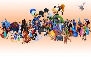 Personnages Disney au complet