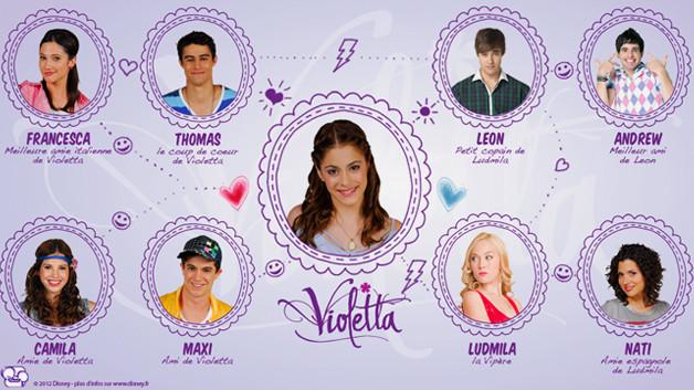 Tous les personnages de Violetta