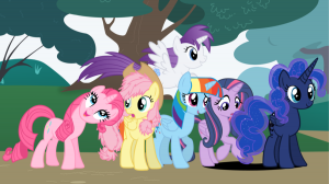 "Une partie des Poneys colorés de ""My little Pony"""