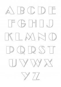 """Alphabet à imprimer et colorier - Style """"Broadway"""""""