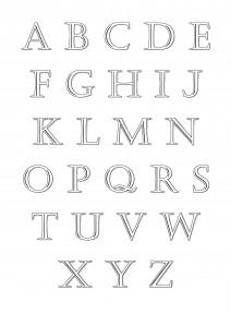"""Alphabet à télécharger - Style """"Classique"""""""