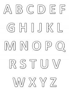 """Alphabet à imprimer et colorier - Style """"Classique"""""""