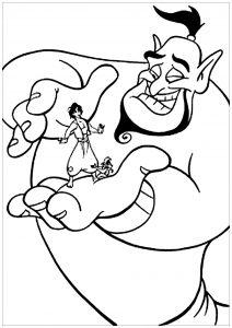 Le génie et Aladdin