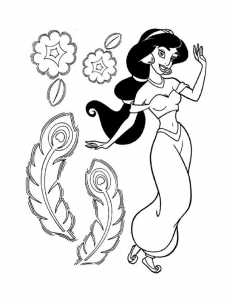 Coloriages aladin jasmine 7