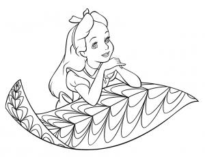 Coloriage de Alice au Pays des merveilles à colorier pour enfants