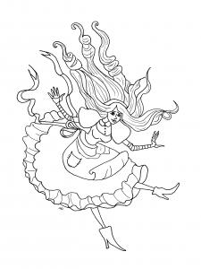 Coloriage de Alice au Pays des merveilles à imprimer gratuitement