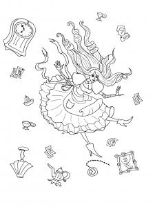 Coloriage de Alice au Pays des merveilles à imprimer pour enfants