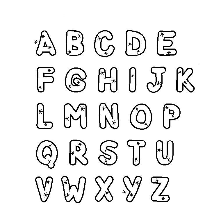 Un autre alphabet simple à colorier