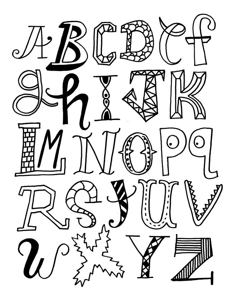 Magnifique alphabet : toutes les lettres sont différentes