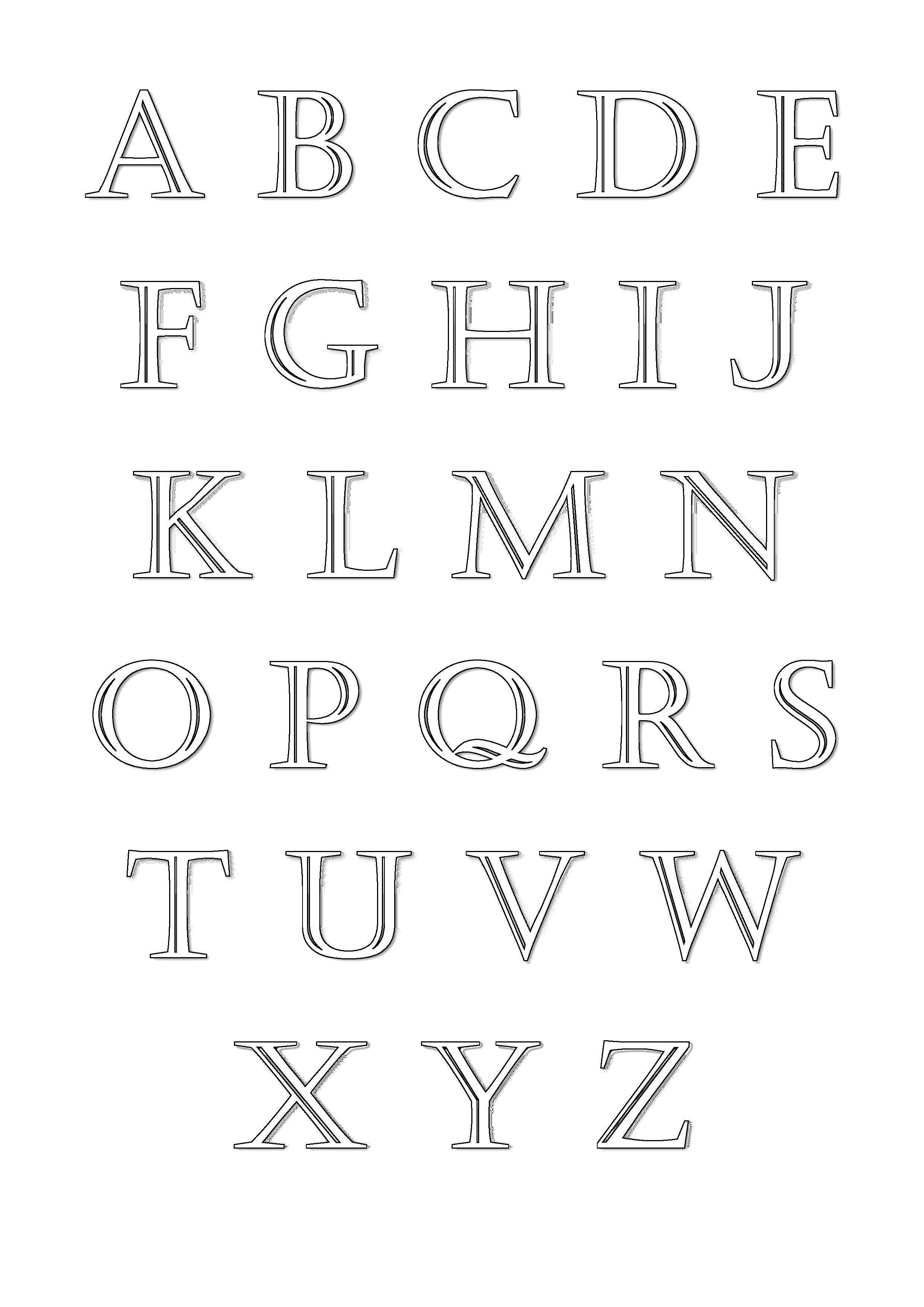 Alphabet a imprimer coloriages alphabet et lettres - Grande lettre alphabet a imprimer ...