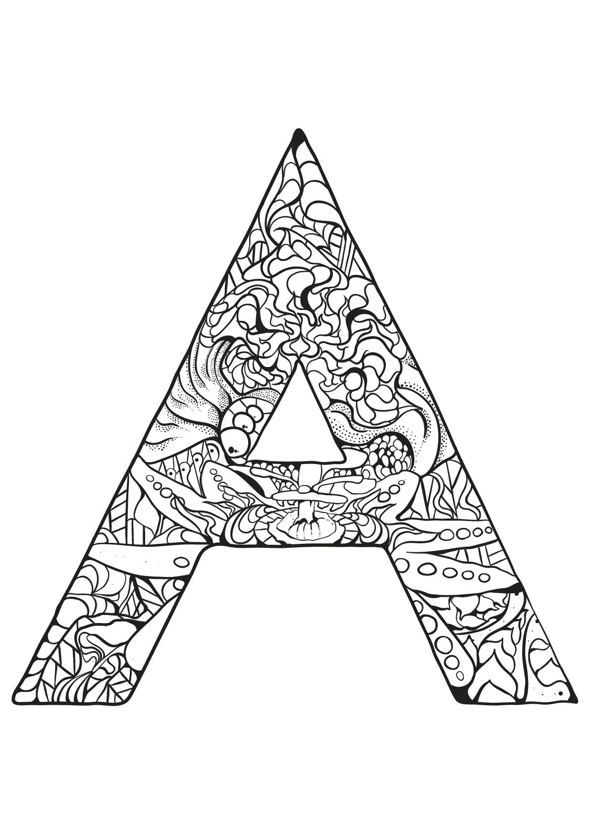 coloriage magique lettres les beaux dessins de meilleurs