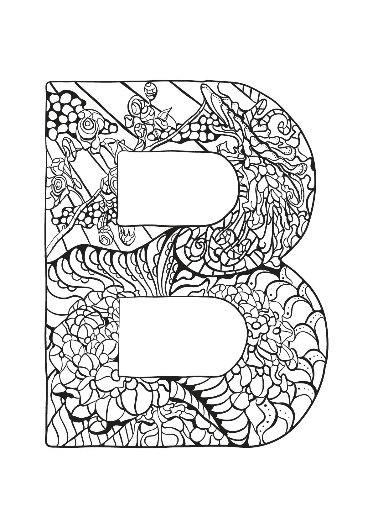 Alphabet lettre b - Coloriages alphabet et lettres