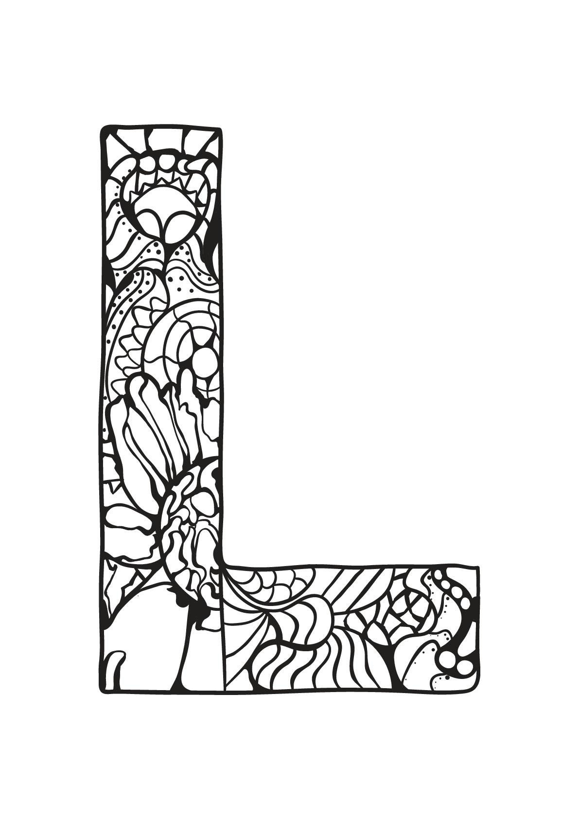 Alphabet lettre l - Coloriages alphabet et lettres
