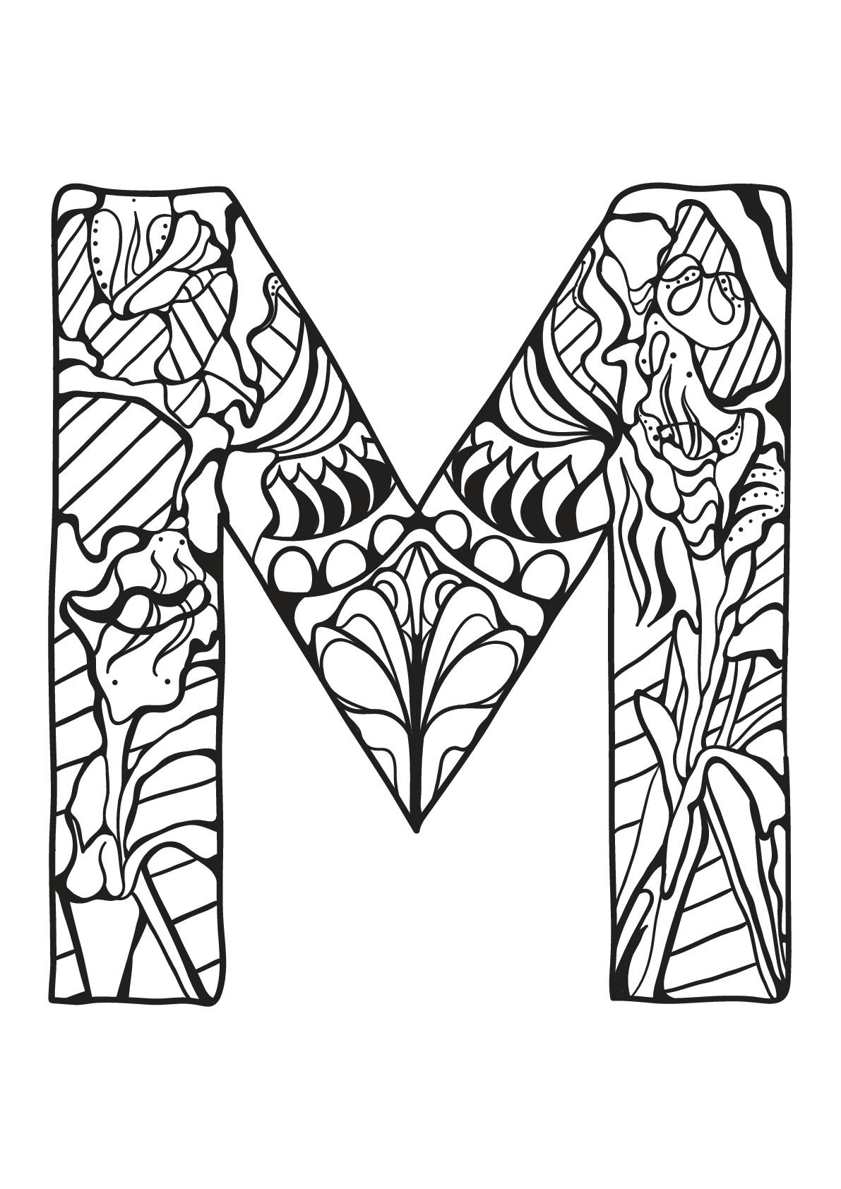 Alphabet lettre m