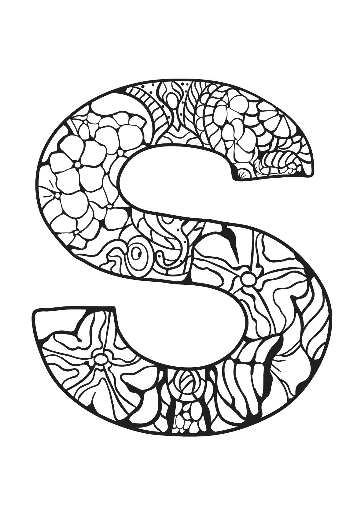 Alphabet lettre s - Coloriages alphabet et lettres