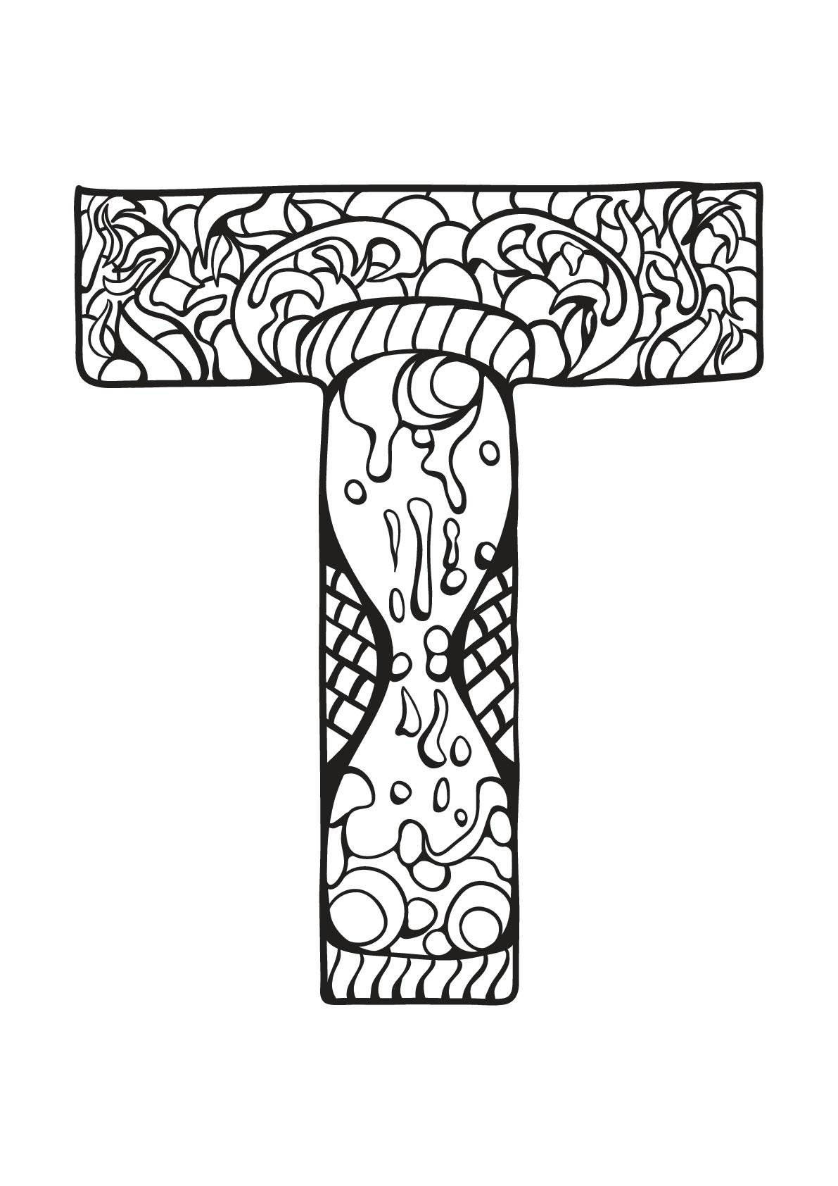 Alphabet lettre t