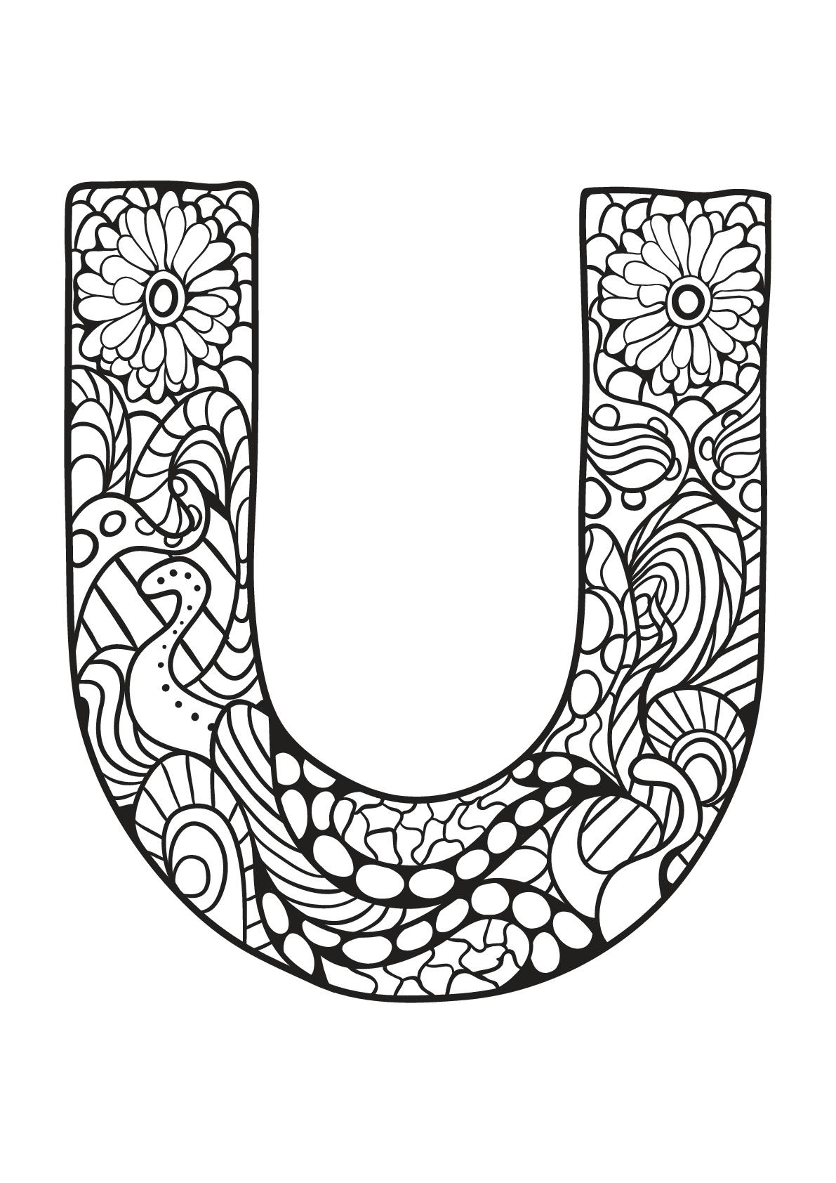 Alphabet lettre u - Coloriages alphabet et lettres