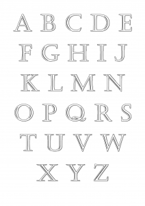 Coloriage alphabet a imprimer