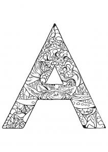 Coloriage alphabet lettre a