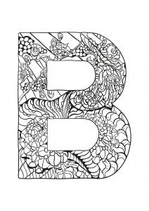 Coloriage alphabet lettre b