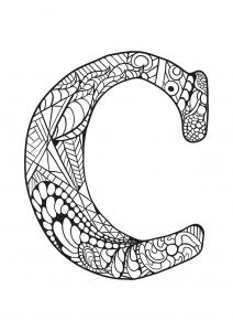 Coloriage alphabet lettre c
