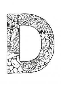 Coloriage alphabet lettre d