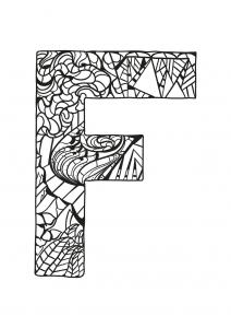 Coloriage alphabet lettre f