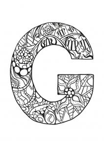 Coloriage alphabet lettre g
