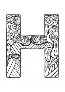 Coloriage alphabet lettre h
