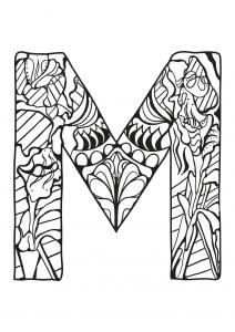 Coloriage alphabet lettre m