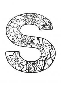 Coloriage alphabet lettre s