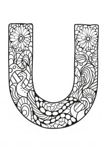 Coloriage alphabet lettre u