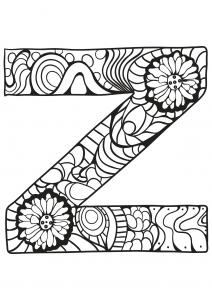 Coloriage alphabet lettre z
