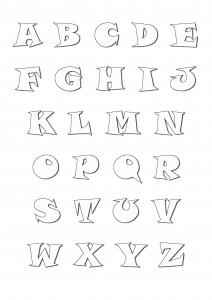 Coloriage alphabet pour enfant