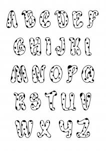 Coloriage enfant alphabet style dalmatiens 2