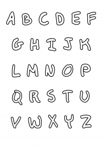 coloriage-enfant-alphabet-style-ecriture-manuscrite free to print