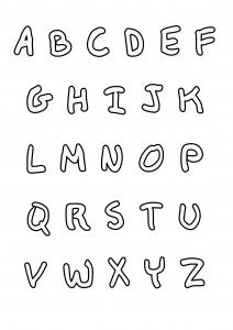 Coloriage enfant alphabet style ecriture manuscrite