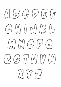 coloriage-enfant-alphabet-style-halloween free to print