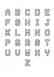 Coloriage enfant alphabet style informatique