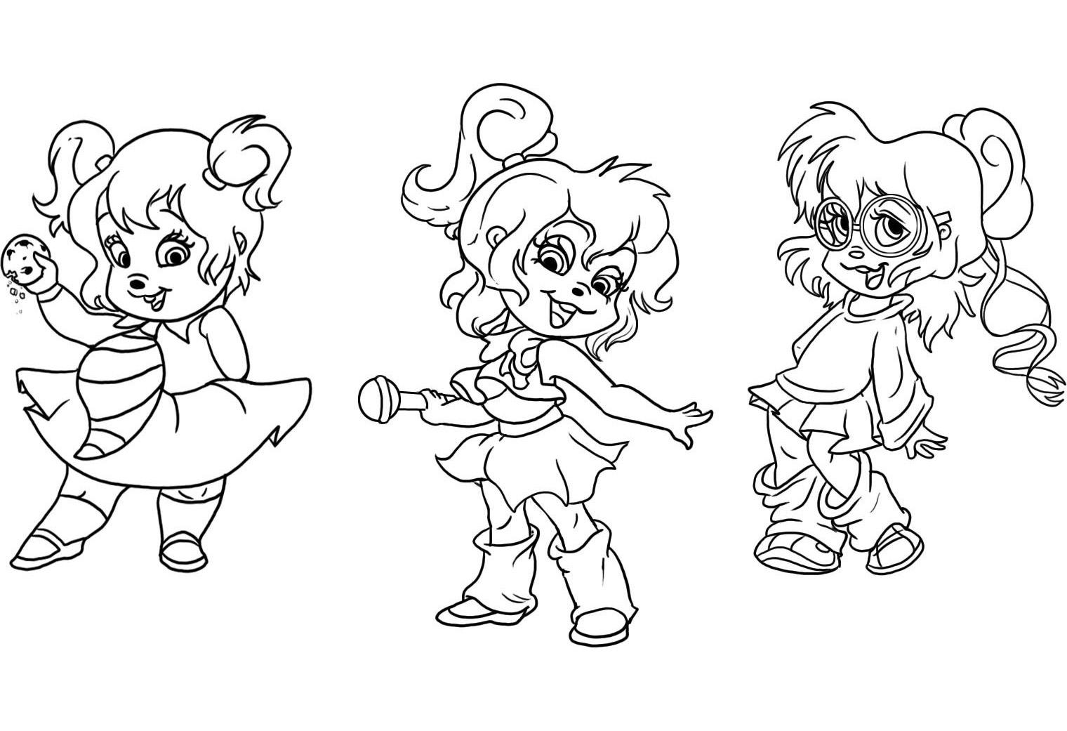 Alvin et les chipmunks 5 coloriage alvin et les chipmunks coloriages pour enfants - Coloriage alvin et les chipmunks simon ...