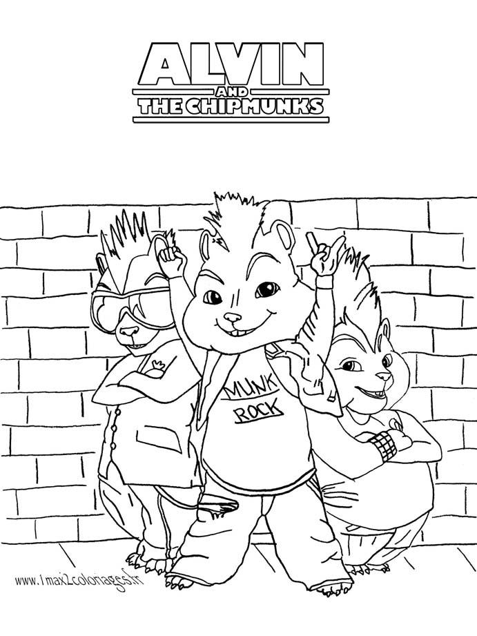Coloriage De Alvin Et Les Chipmunks A Telecharger Coloriage Alvin Et Les Chipmunks Coloriages Pour Enfants