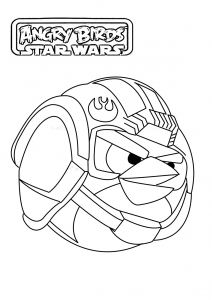 Coloriage angry birds star wars 1