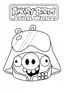 Coloriage de Angry Birds Star Wars à telecharger gratuitement
