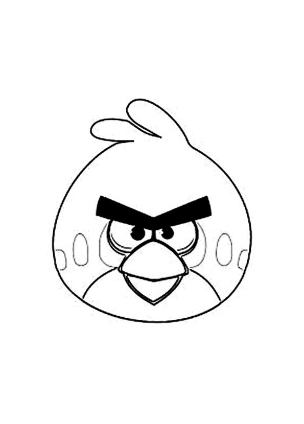 Angry birds 1 coloriage angry birds coloriages pour - Angry bird coloriage ...