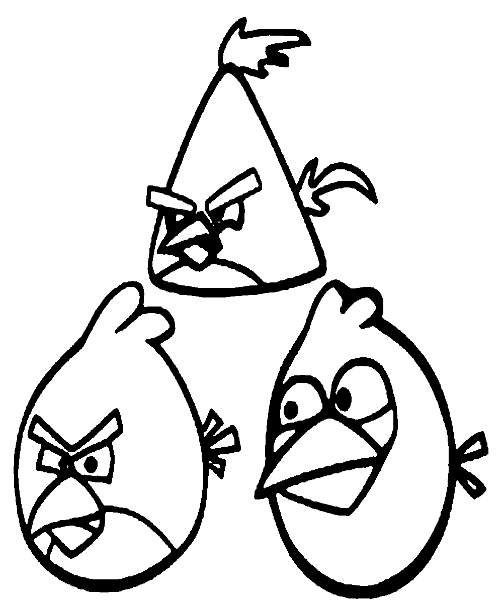 Angry birds 10 coloriage angry birds coloriages pour - Angry bird coloriage ...