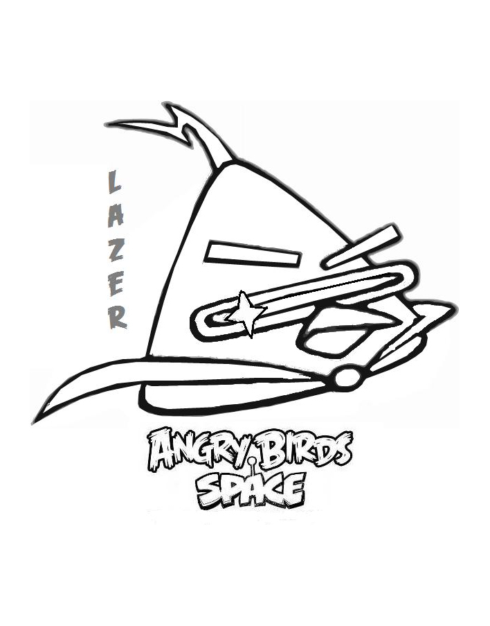Angry birds 14 coloriage angry birds coloriages pour - Coloriage angry bird star wars ...