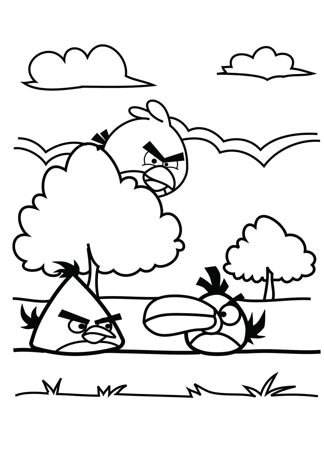 Angry birds 2 coloriage angry birds coloriages pour - Angry bird coloriage ...